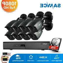 SANNCE 8CH DVR 1080P CCTV Security Camera System Email Alert