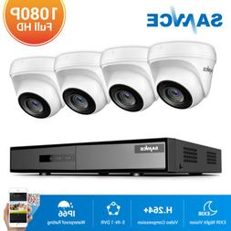 SANNCE 8CH 1080P HDMI DVR Outdoor HD 2MP 3000TVL IR Video Se