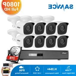 SANNCE 5in1 4CH 8CH 1080P HDMI DVR 2MP Outdoor Security Came