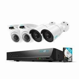 4MP Security Camera System Home Surveillance 8CH NVR Kit w/