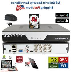 8ch 8 Channel H.264 DVR with Hard Drive 1TB for CCTV Securit