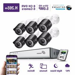 8ch hd 5mp surveillance security cameras 2t