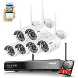 SANNCE 8CH NVR HD 1080P Wireless Security Camera System Outd