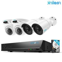 8CH NVR HD 5MP POE Security Camera System Home Garden CCTV R
