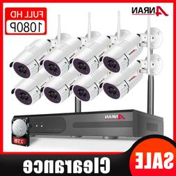 ANRAN 8CH Wireless Security Camera System 1080P Outdoor 1TB