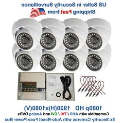 8x 1080p CCTV Security Camera Outdoor Night Vision with 8 Ch