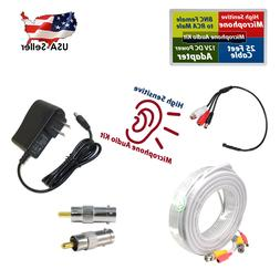 CCTV Microphone for spy Security Camera RCA Audio Mic Cable