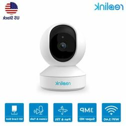 Reolink E1 Security Camera 3MP Pan Tilt WIFI Indoor Baby Mon