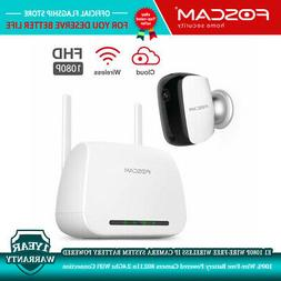 Foscam E1 Wire-Free IP Camera System 1080P Wireless Recharge