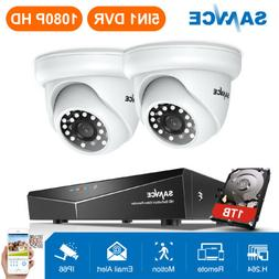 SANNCE Full HD 1080P 4CH DVR 2MP Security Camera System Outd