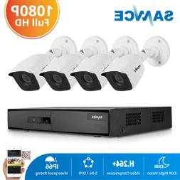 SANNCE H.264+ 4CH DVR Outdoor HD 1080P Video CCTV Security C
