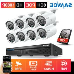 SANNCE H.264+ 5MP 8CH NVR 1080P POE Audio Recording Security
