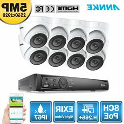 ANNKE H.265+ 8MP 4K 8CH NVR POE Outdoor 5MP Security Camera
