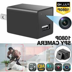 HD 1080P Hidden Camera USB Wall Charger Adapter Video Record