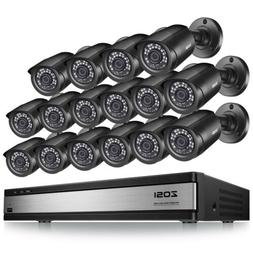 ZOSI HD 16 CH Channel 1080N DVR Recorder 720P Security Camer