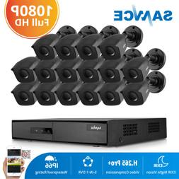 SANNCE HD 16 Channel 1080N 5IN1 DVR 1080P Security Camera Sy