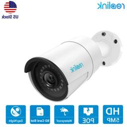 5MP PoE IP Security Camera Audio Mic Indoor Outdoor SD Card