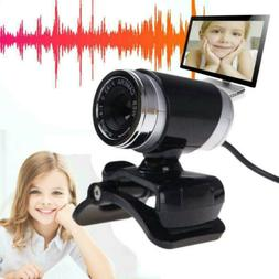 HD Webcam Web Camera Cam USB 2.0 with Mic Microphone for Com