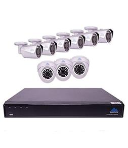 Montavue 16 Channel Home Security Camera System 4K NVR w/ 9