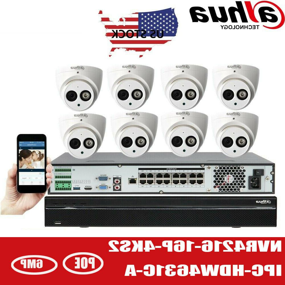 Dahua 16CH CCTV Security SYSTEM 6MP IPC-HDW4631C-A Bulit-in