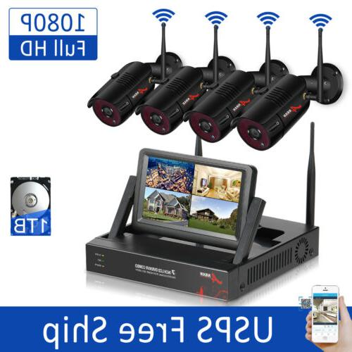 1080p wireless security camera system with 1tb