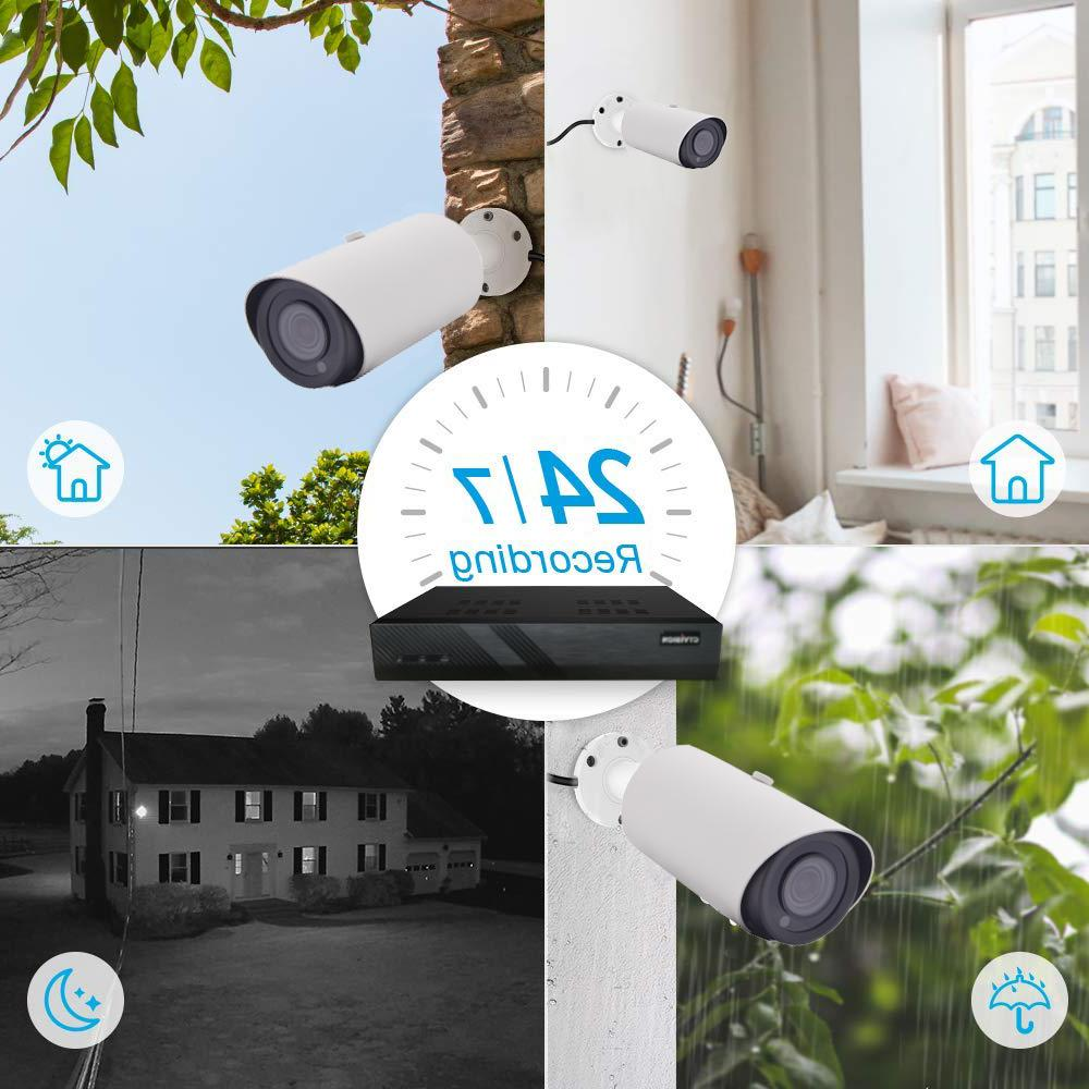 Hikvision Generic 8MP PoE NVR, x5MP HD Dome Camera System 2TB