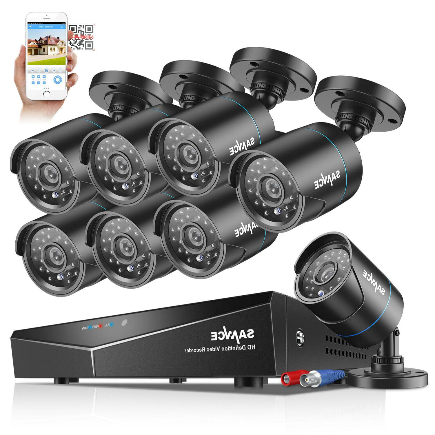 SANNCE 4CH 8CH HDMI DVR Outdoor Camera Vision