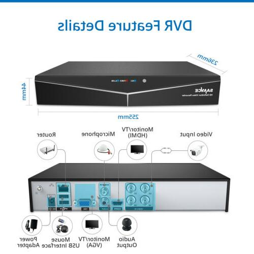 SANNCE 8CH DVR Video Outdoor Security Camera System