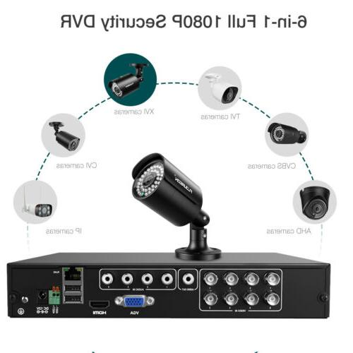 6-in-1 8CH CCTV Camera System HDMI 1080P Outdoor Video