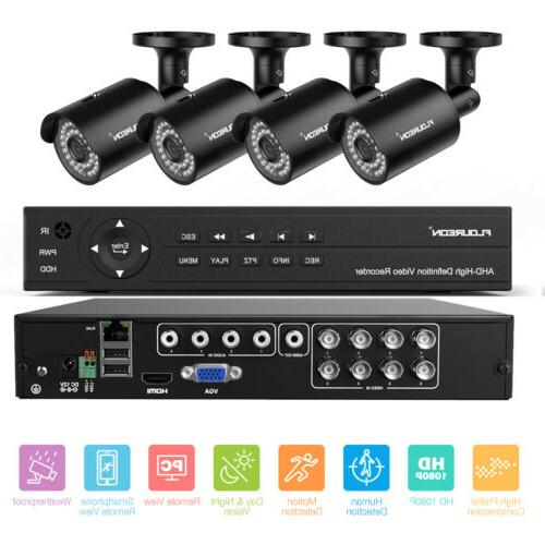 6-in-1 8CH Security Camera System HDMI Outdoor Surveillance