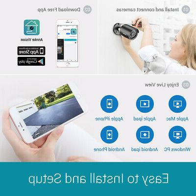 ANNKE Outdoor CCTV Security Camera System