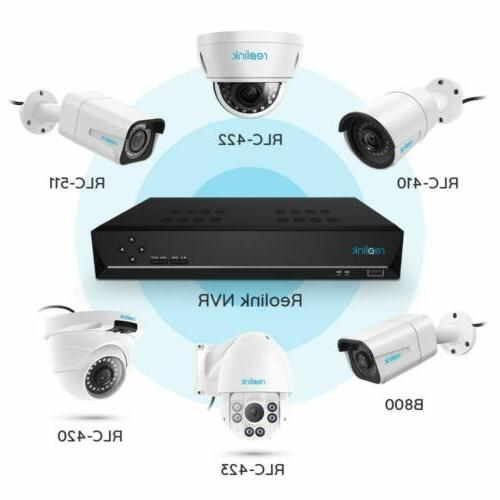 Reolink Security Camera Kit 2TB NVR Video RLK8-520D4-5MP