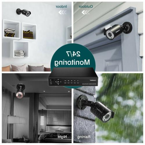 6-in-1 8CH Security Camera System HDMI Outdoor