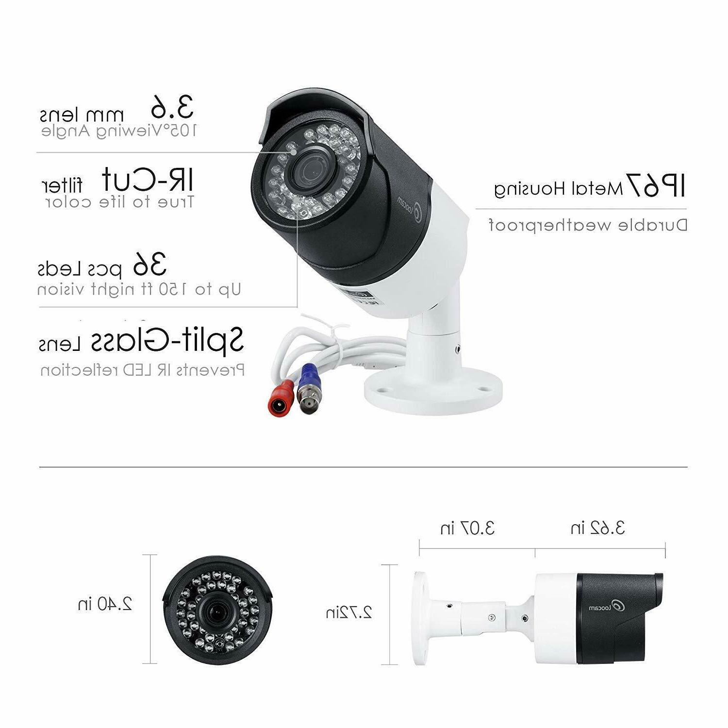 Loocam 5MP Surveillance Security Cameras 2T DVR camera