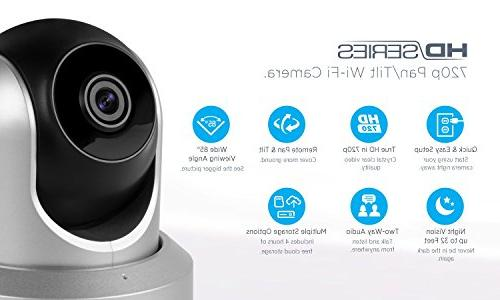 Amcrest Wireless Camera Security Camera Camera for Baby Pet Nanny Two-Way Vision IPM-721S