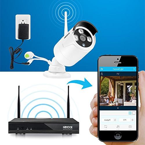 Cameras System With 1TB NVR HD 1.3MP Outdoor Video WiFi with 100ft Detection