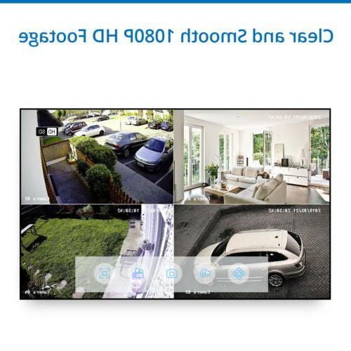 SANNCE 1080P 8CH DVR 2MP Security Camera System Vision