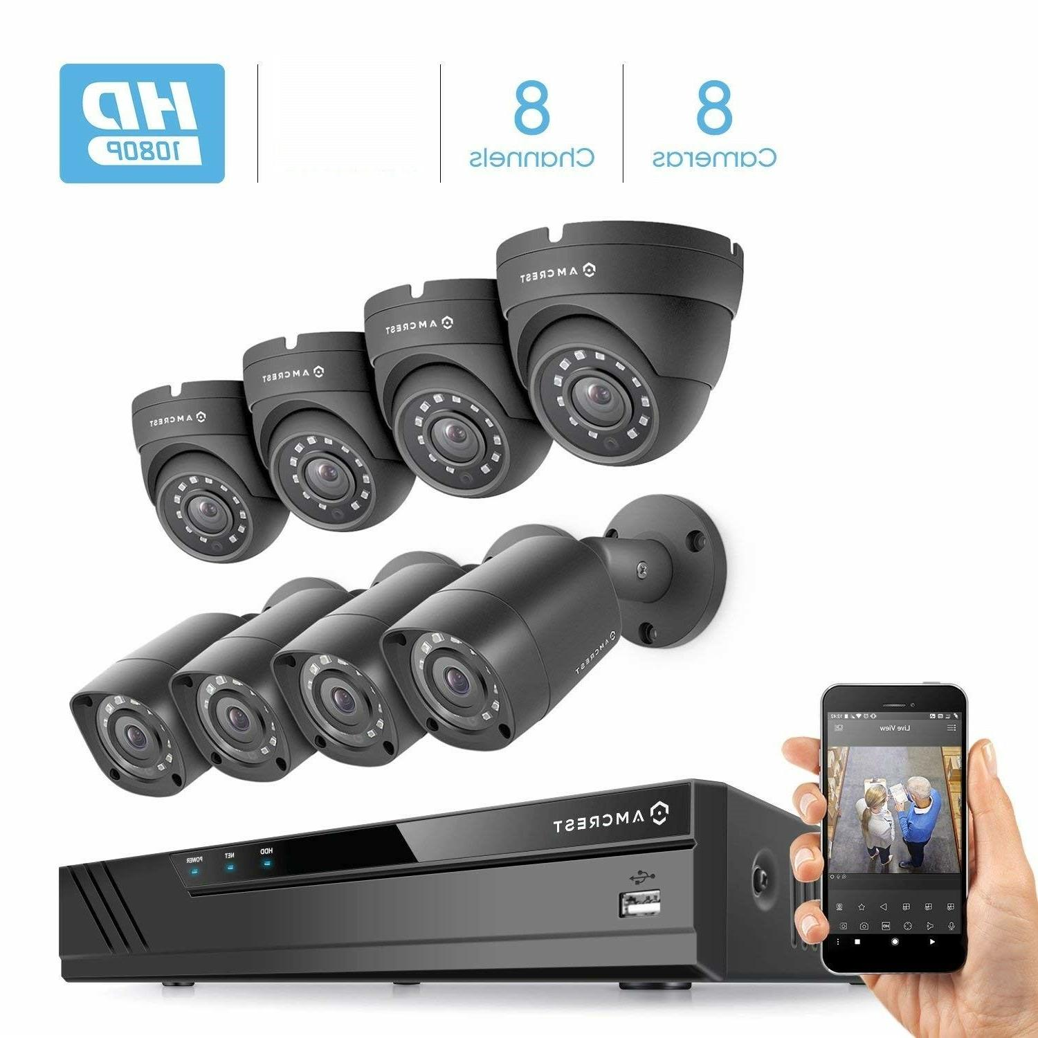 full hd 1080p 8ch video security system