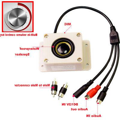 Microphone TWO in ONE For Security IP Camera