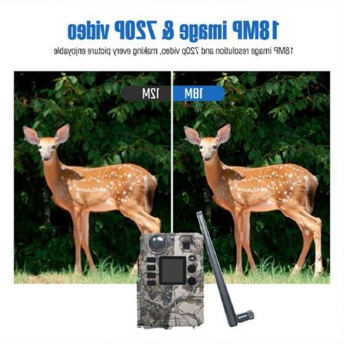 Mobile AT&T Cellular Trail Camera 18MP HD Video Game hunting Cams US