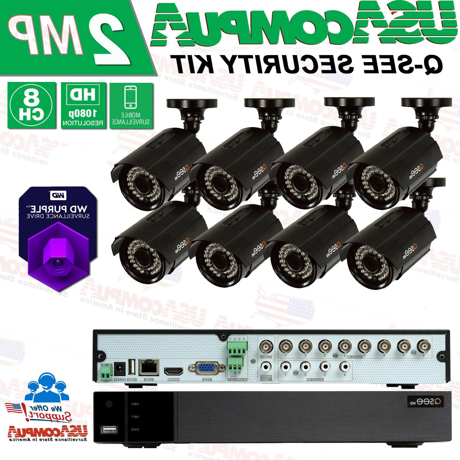 new q see 8 channel 1080p analog