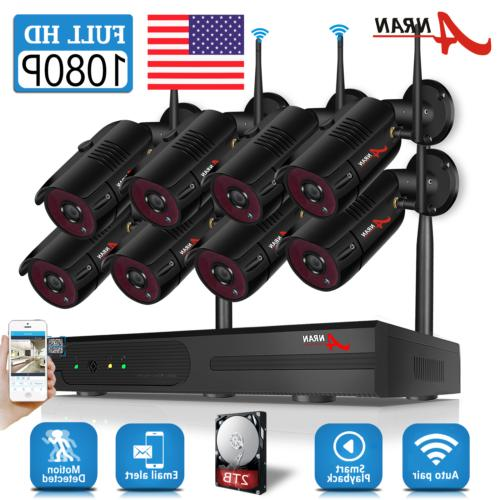 security camera system wireless waterproof home 1080p