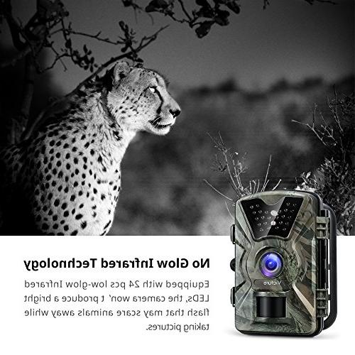 Victure Game 1080P 12MP Motion Night 20m with Display IP66 for Wildlife Home Security