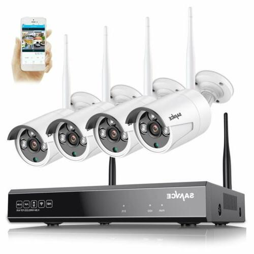 SANNCE 8CH Wireless 1080P NVR Outdoor Home WIFI 2MP Camera C