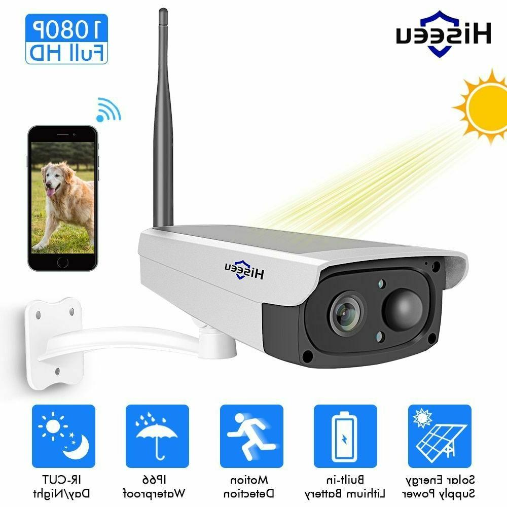 WiFi IP Solar Camera System 1080P Panel Rechargeable Battery