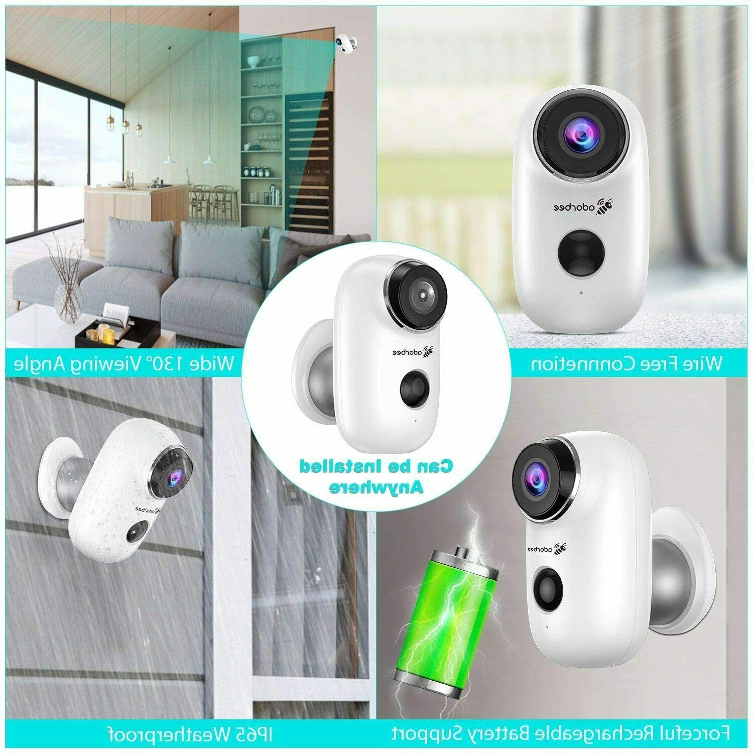 Adorbee WiFi Outdoor Security System for Home-A3,HD720P