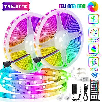 32.8Ft RGB Waterproof 600 LED SMD Strip Light 44 Key 12V DC