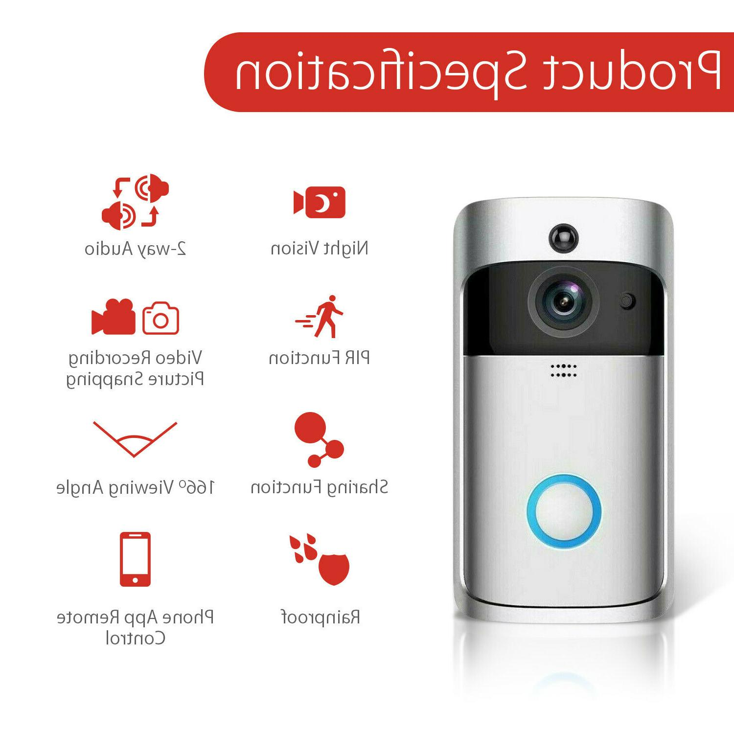 Wireless Video Smart Phone Security Bell