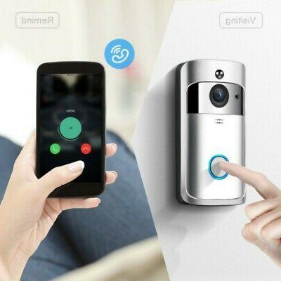 Wireless WiFi Smart Phone Ring Intercom Camera Security Bell
