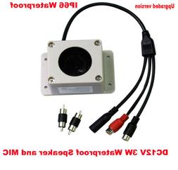 MIC Speaker in 1 Device Interphone for Security Camera Outdo